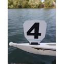 Numéro pour bateaux à l'unité non flottant